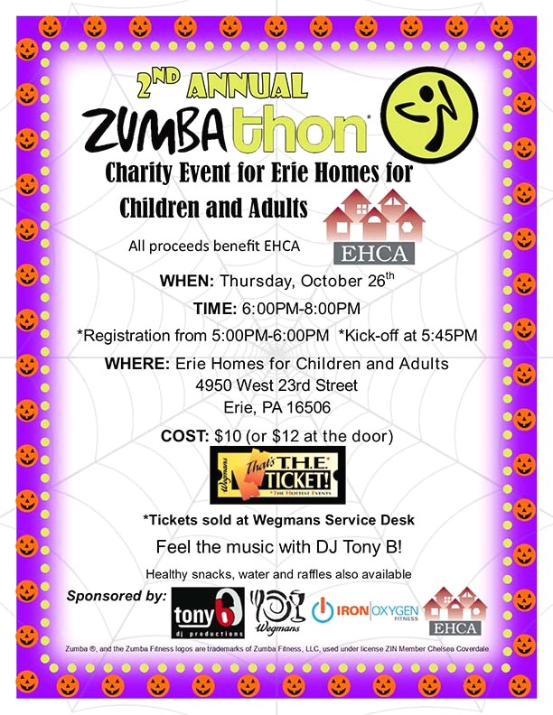 Zumbathon Erie Homes For Children And Adults Ehca